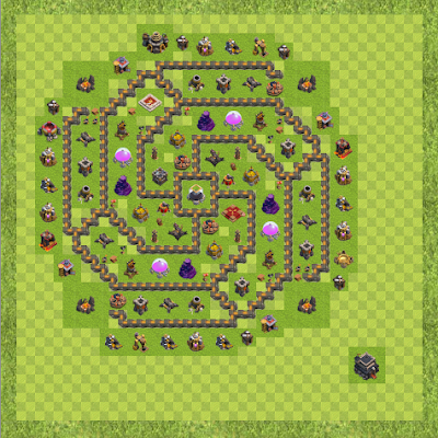 War Base Town Hall Level 9 By Adrian Pocasangre (Luis 9 farm TH 9 Layout)