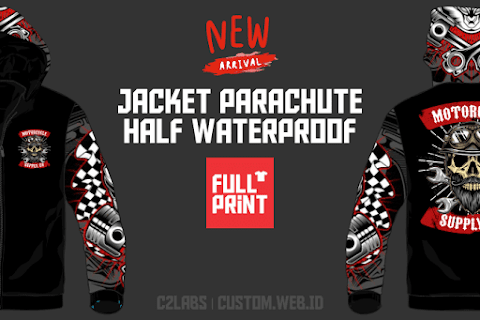 7 Contoh Jacket Parachute Half Waterproof Full Printing Unlimited Color