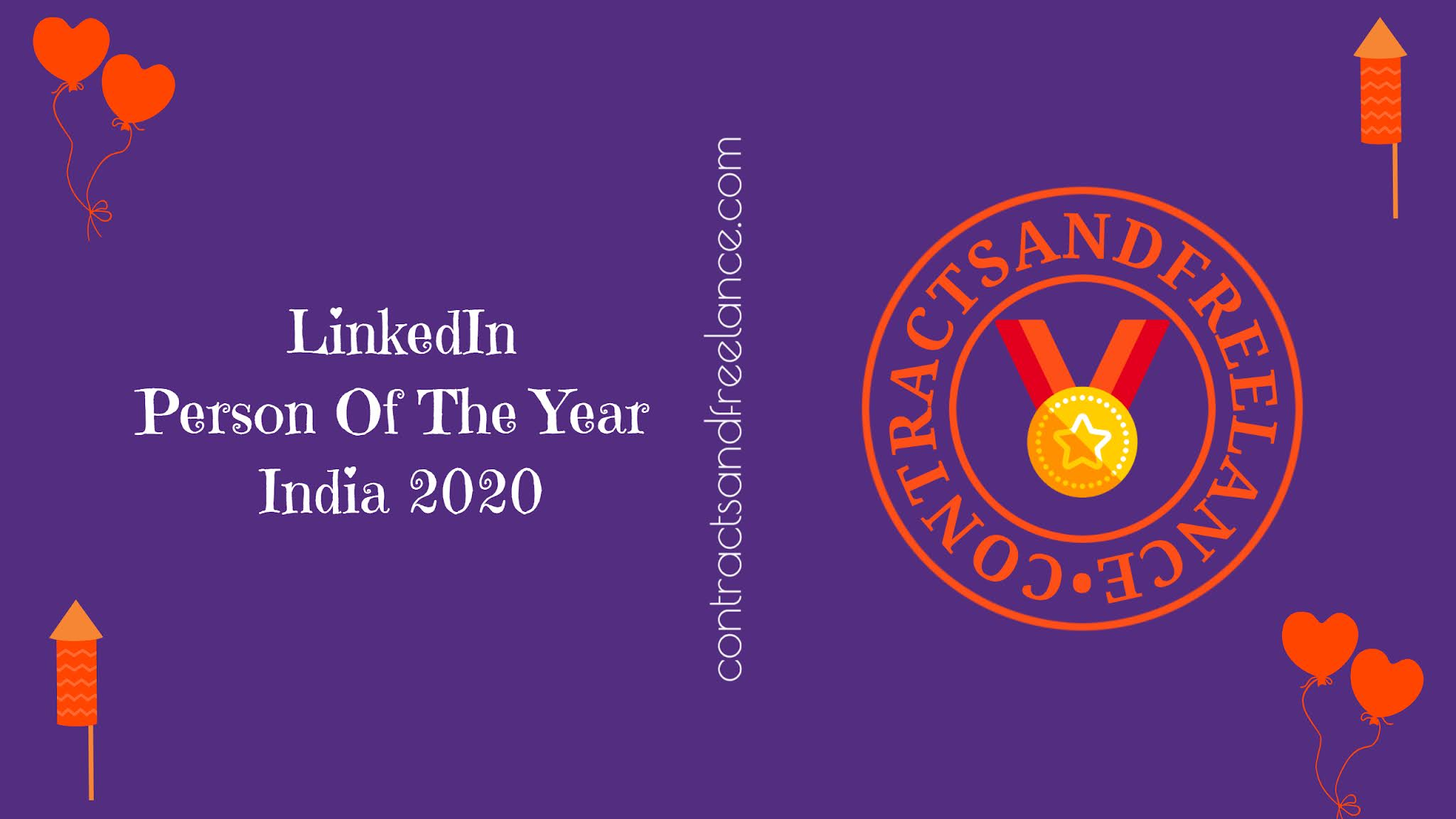 Contracts And Freelance LinkedIn Person Of The Year India 2020