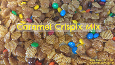Back to School Snack Mix Recipes - Caramel Crispix Mix
