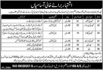 March 2020 jobs in Board Of Management Quaid E Azam Industrial Estate