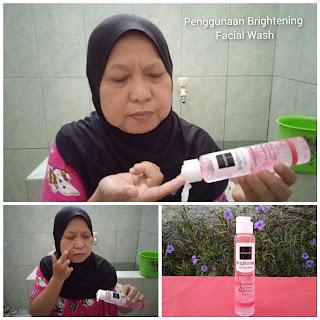 Penggunaan Brightening Facial Wash