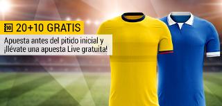 bwin promocion 10 euros Colombia vs Brasil 5 septiembre
