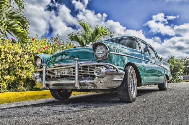 classic car, vintage car, sedan