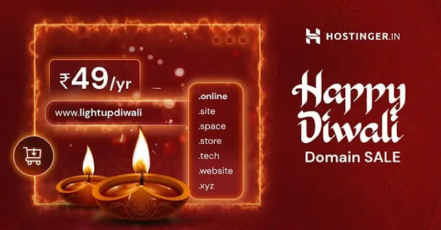 Hostinger Diwali Sale 2020 - Get Domains at ₹49/First Year