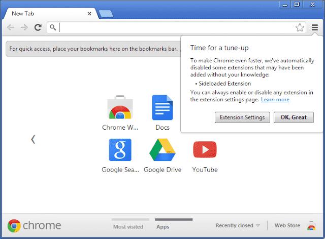 Screenshot Google Chrome