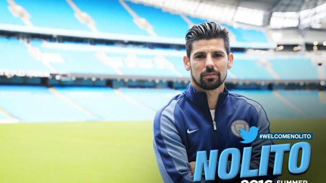 OFICIAL: Nolito é o novo reforço do Manchester City