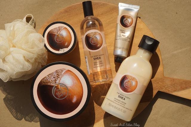 The Body Shop Shea Body Butter Scrub Shower Cream Hand Cream Hand Cream Body Mist Review