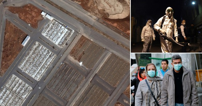 Images showing Mass Graves dug for Corona Virus victims in Iran