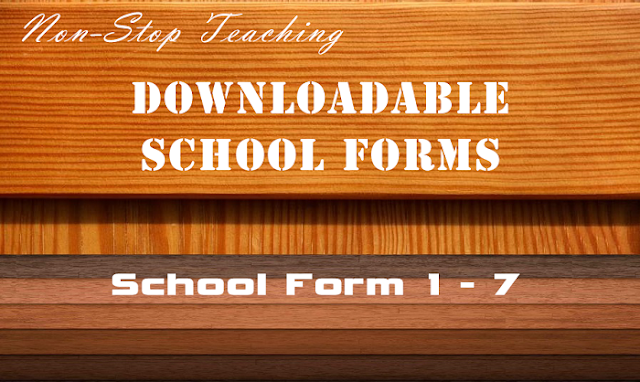Downloadable and Printable School Forms (SF 1-7)