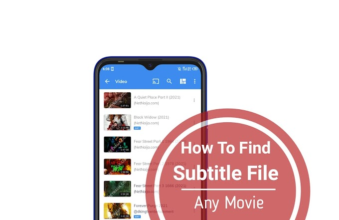 How To Find Download And Import .SRT Subtitle File For Any Movie