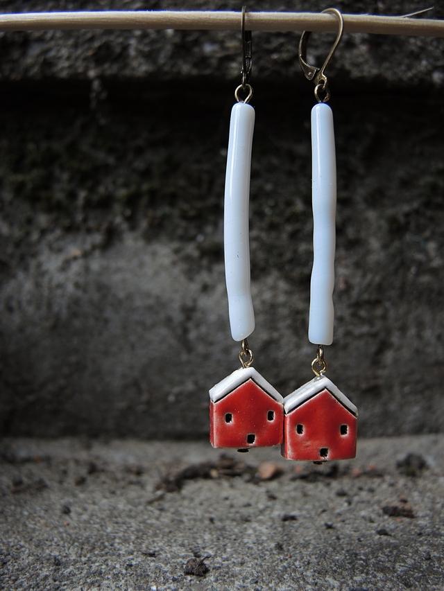 "DIY oorbellen/earrings ""zomerhuis"""