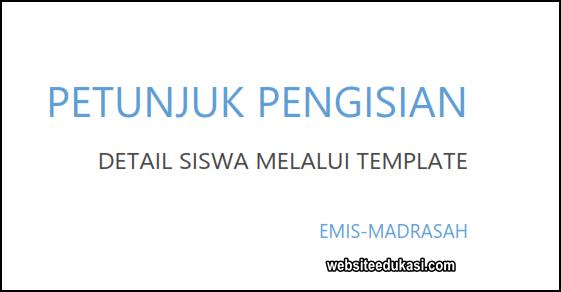 Juknis Pengisian Template Siswa EMIS 2019/2020