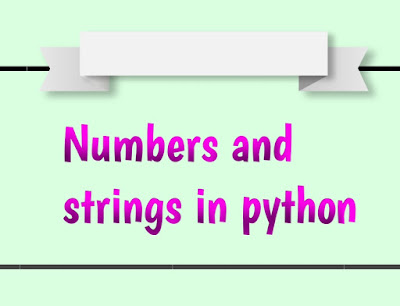 Python numbers and strings examples hindi