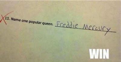Lustige Schultest Frage berühmte Königin Freddy Mercury