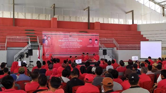 PDIP Lamsel, Gelar Rapat Konsulidasi Organisasi Internal Partai Di GWH Lamsel.