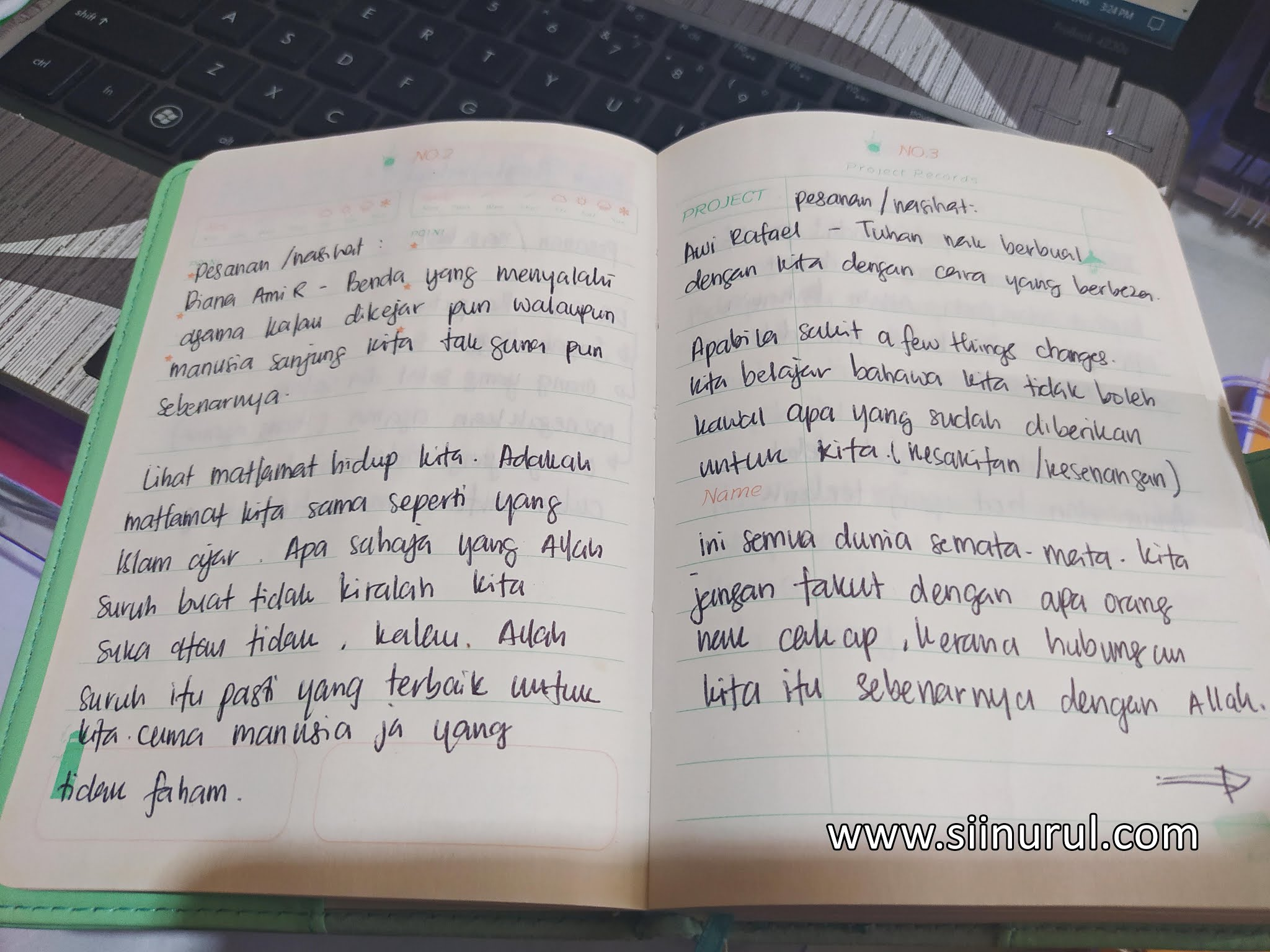 Cabaran 15 Hari | Pictures of my handwriting