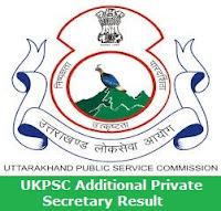 UKPSC Additional Private Secretary Result