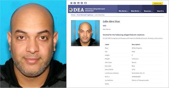 Dominicano encabeza lista de la DEA entre los fugitivos más buscados por drogas en Estados Unidos