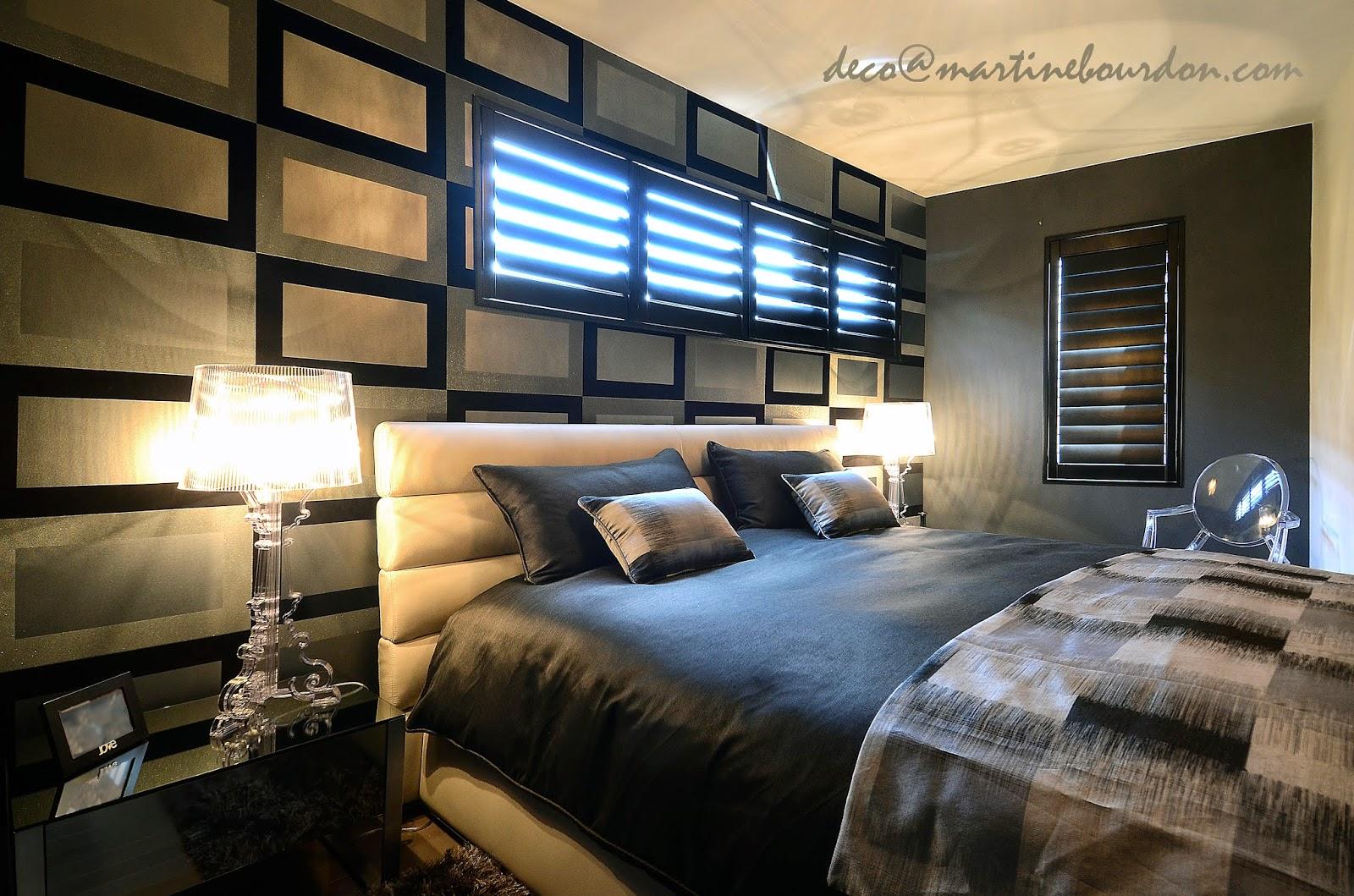 tendance papier peint chambre. Black Bedroom Furniture Sets. Home Design Ideas