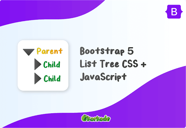 Bootstrap 5 list tree View html
