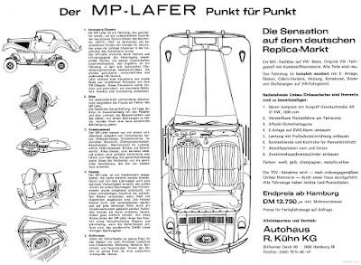 Verso do folder promocional do MP Lafer na Alemanha.