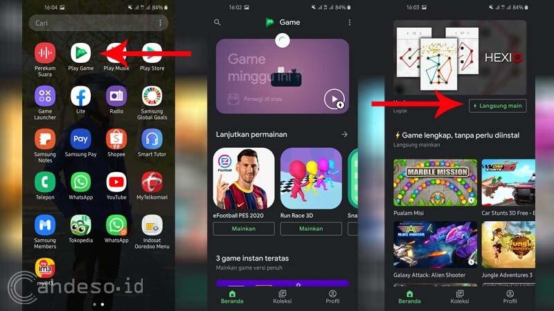 Game Instan di Google Play Game