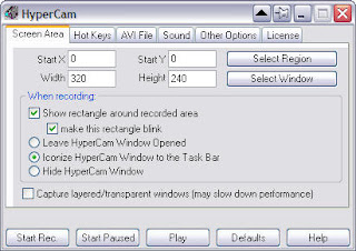 HyperCam Screen recorder.