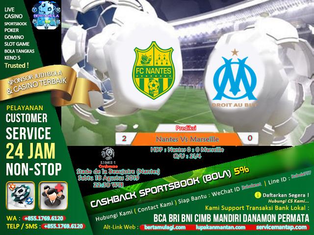 Prediksi Nantes Vs Marseille - ituBola