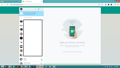 Menggunakan Whatsapp Web di Leptop