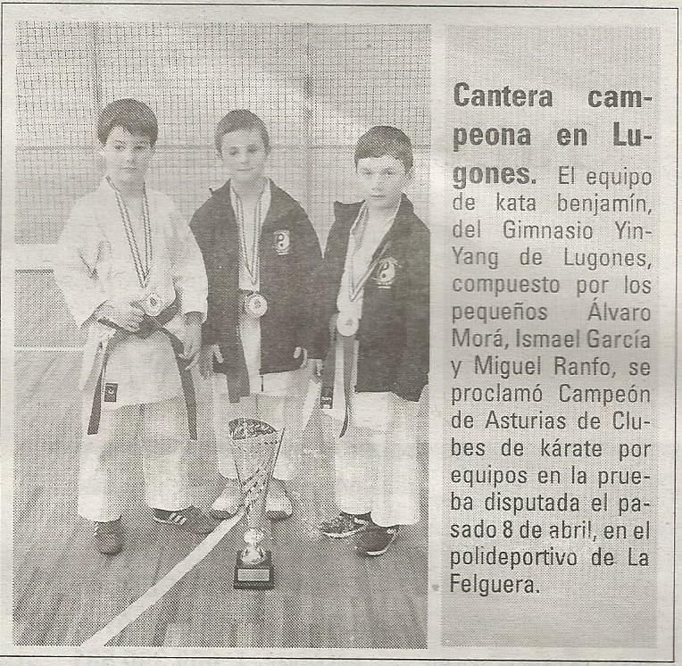 Karate shito ryu asturias el equipo benjam n de kata del for Gimnasio yin yang
