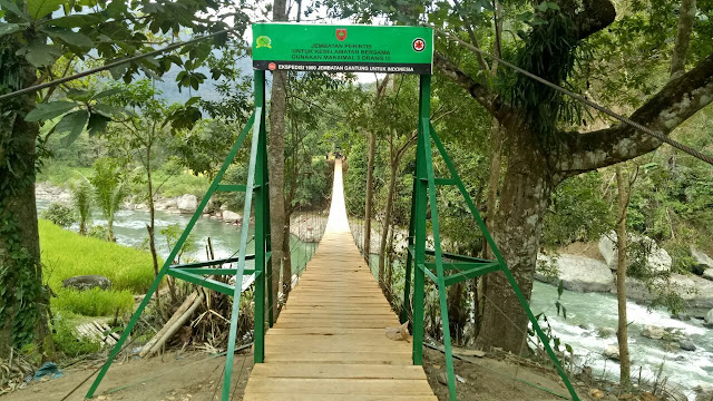 Jembatan Gantung Penghubung Sinjai dan Bone Telah Rampung, Begini Kondisinya
