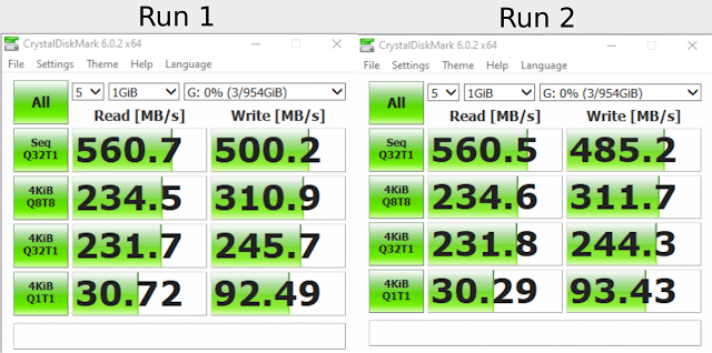 Review SSD WD Green vs VGEN Turbo M.2 Sata