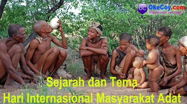 hari dunia internasional masyarakat adat sedunia sejarah tema