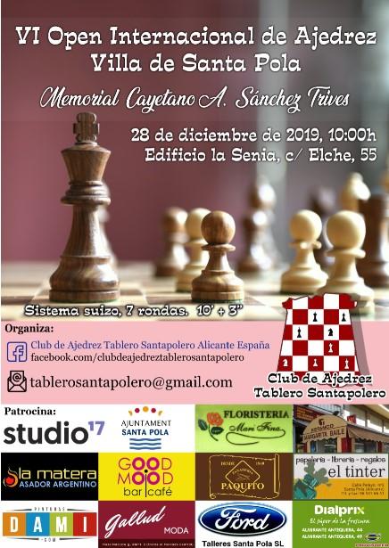 28 diciembre, Open Villa de Santa Pola