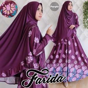 Gamis-Syar'i-Cantik-Farida-Purple-Terbaru