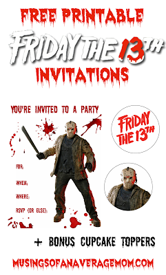 Free Friday the 13th invitations