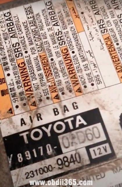 iprog read  Toyota Grandi 2019 Airbag 1