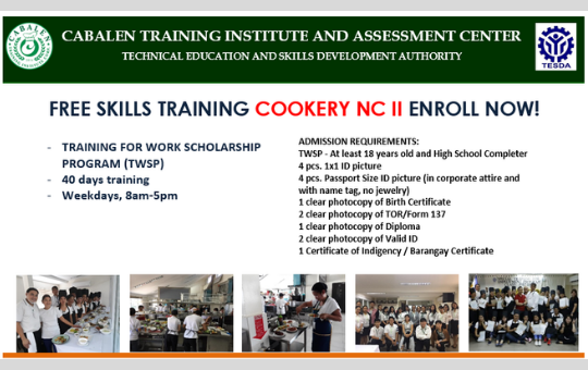 Cookery NC II (40 days)