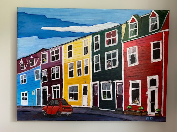 Neighbourhood Watch on Jellybean Row - Original painting