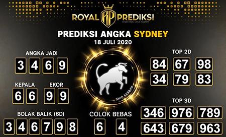 Royal Prediksi Sydney Sabtu 18 Juli 2020