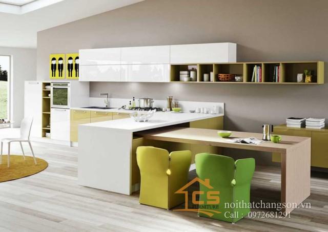 Tủ bếp gỗ nhựa picomat 1