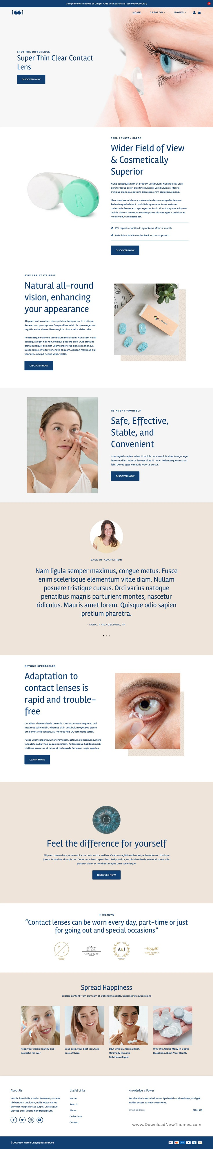 Eye care Premium Shopify Theme