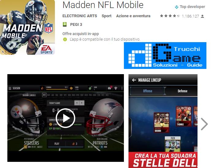 Trucchi Madden NFL Mobile Mod Apk Android v3.6.4