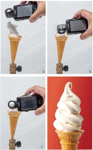 ソフトクリームを露出計を使って撮る。