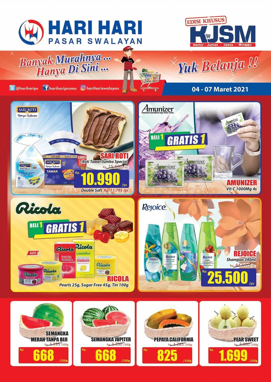 Katalog Promo JSM Hari Hari Swalayan Weekend 4 - 7 Maret 2021 1