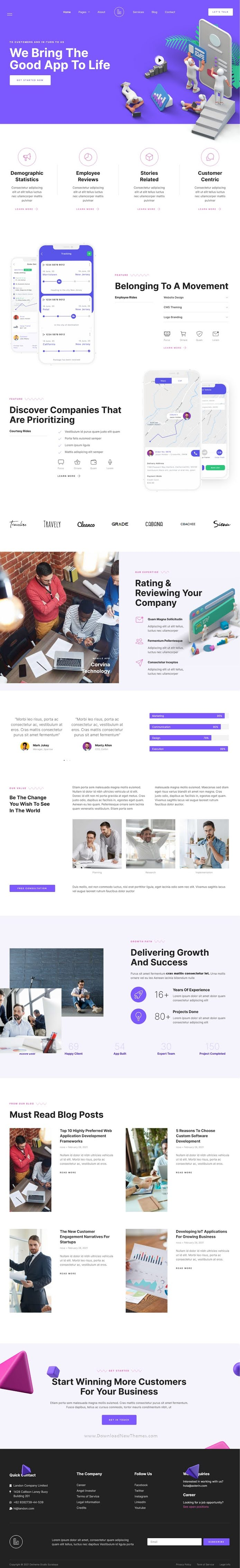 Tech Company & Startup Elementor Template Kit