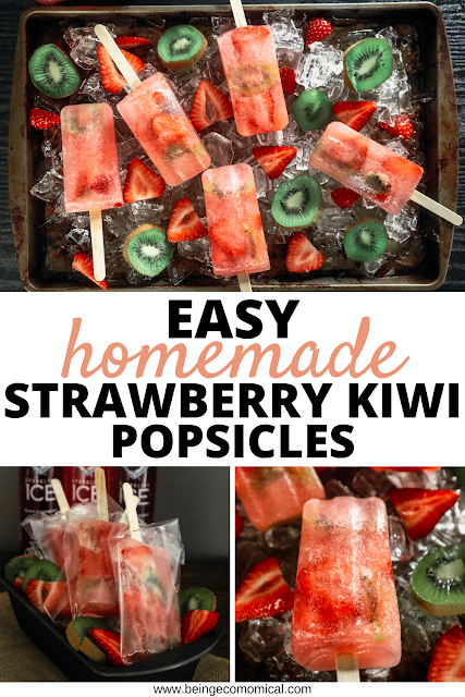 Easy Homemade Strawberry Kiwi Popsicles