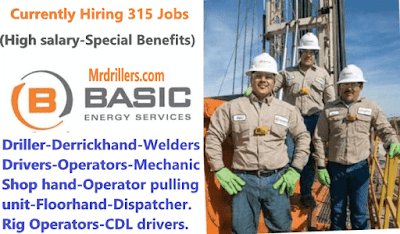 Basic Energy Services needs 315 Drilling positions ASAP - July 2019