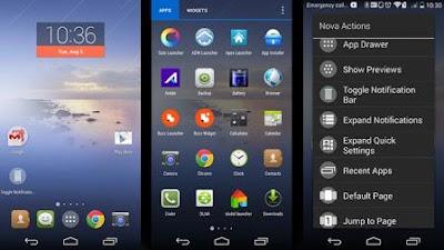 nova launcher aplikasi launcher terbaik ringan